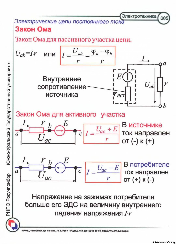 Линейная электрическая цепь схема