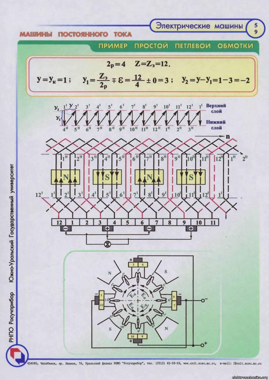 Дта-40 схема включения двигателя коллекторного двигателя