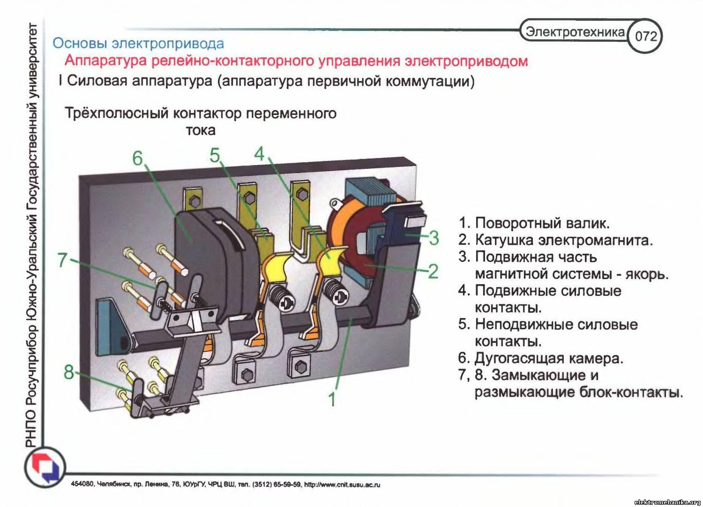 Схемы релейно контакторного управления двигателем
