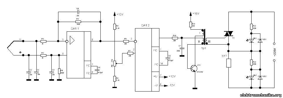Схема такого терморегулятора